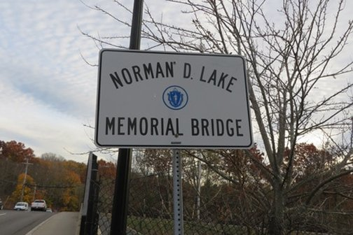 Sign, Norman D. Lake Bridge