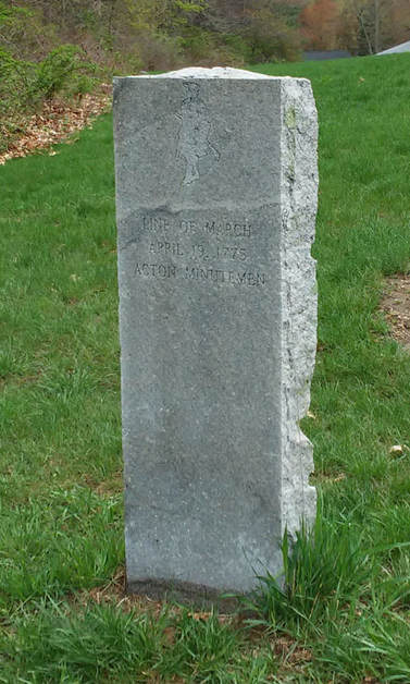 Acton Minutemen Line of March Marker