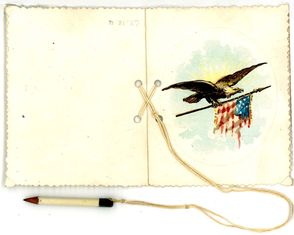 Dance Card with pencil, 1895
