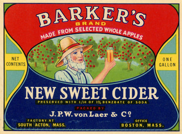 Label Barker Cider, JPW von Laer & Co owners