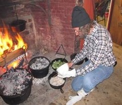 Picture of cooking at Hosmer House