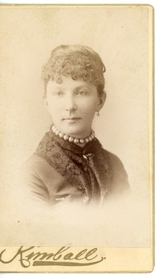 Unidentified Woman by Kimball's Studio Lowell