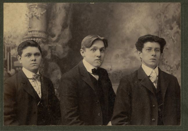 Portrait of Three Young Men