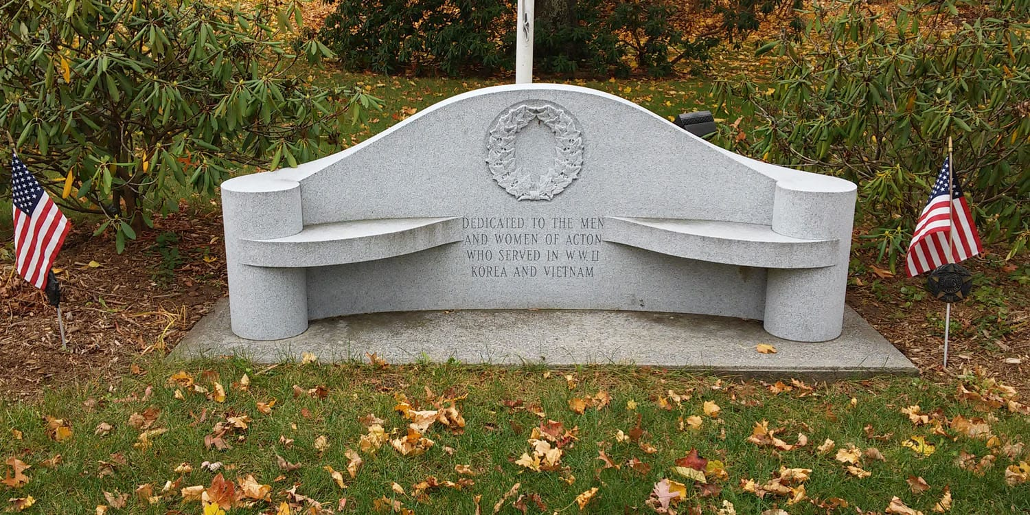 Memorial Bench for WWII, Korea & Vietnam Veterans