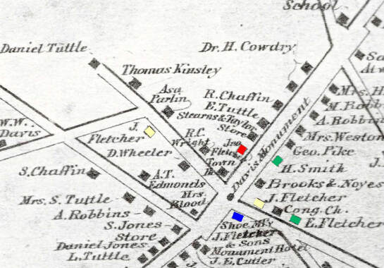 Map of Acton Centre, c. 1870