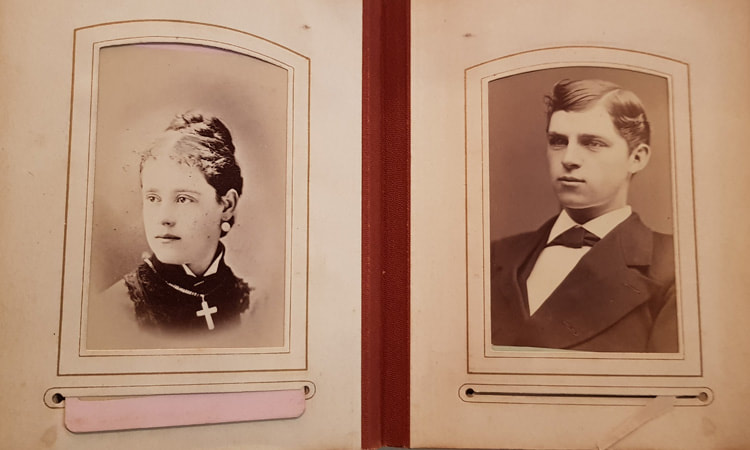 Unknown Young Woman & Man