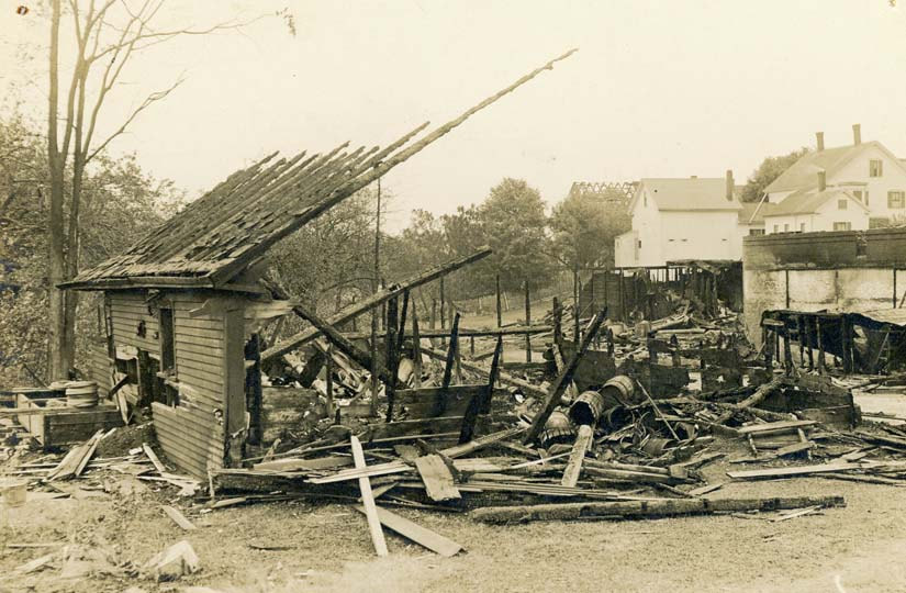 Barrel Shop, burned July 1913