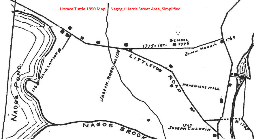 North Acton, from Tuttle Map, simplified