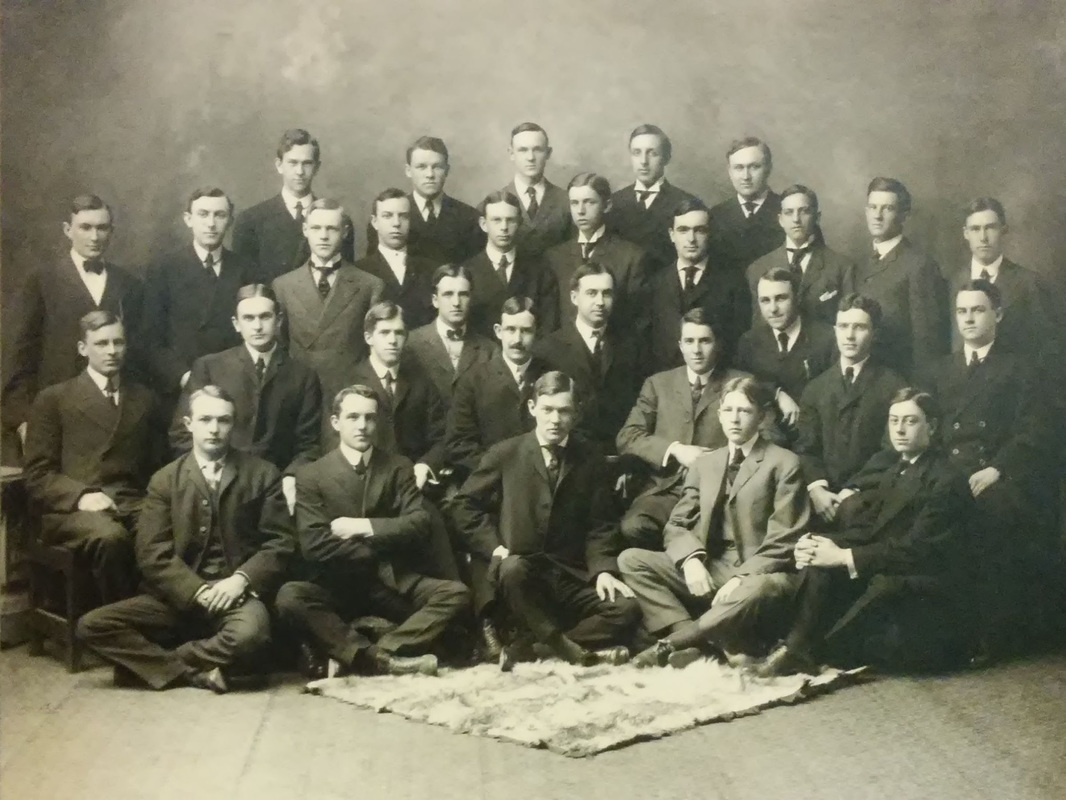 Group Photo by Elmer Chickering found behind map