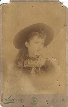 Young Woman, Photo by E Simons, New Orleans
