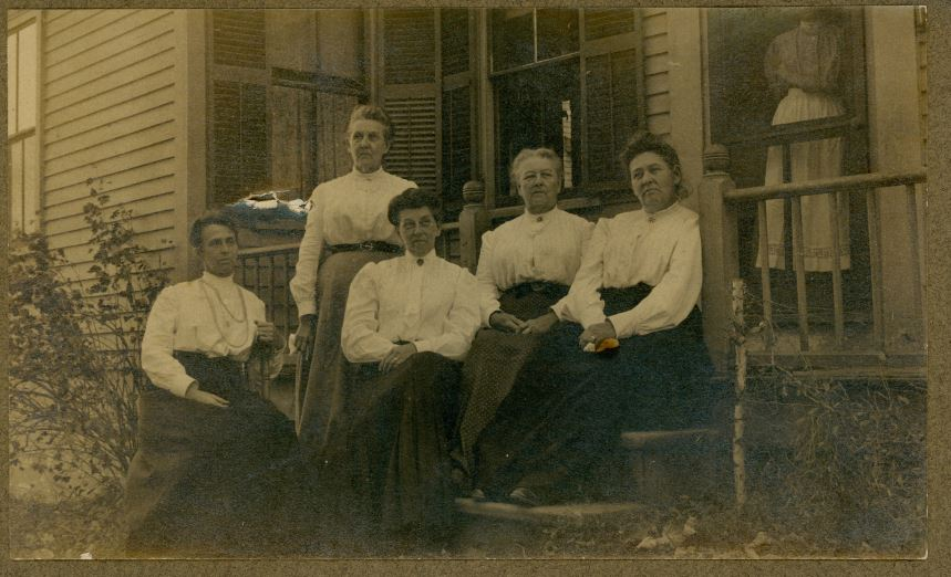Five Women in White Blouses